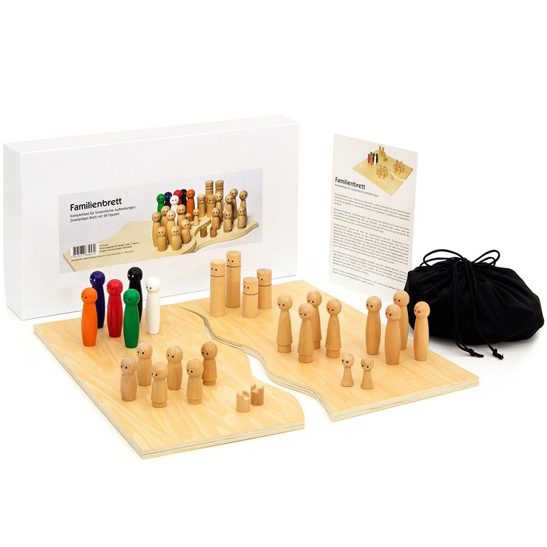 Systembrett aus hochwertigem Holz für Familienaufstellung
