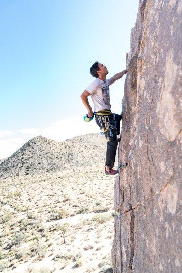 Kletterer-an-einer-Wand
