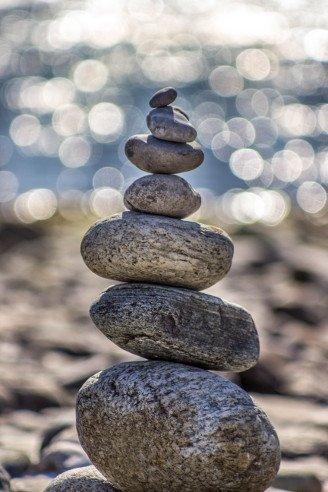 Balancierende Steine