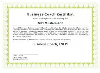 Coach Zertifikat