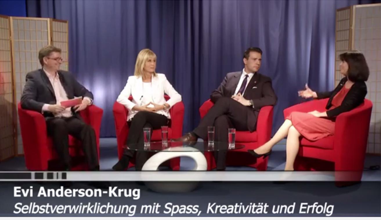 Evi Anderson-Krug zu Gast in einer Talkshow
