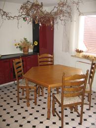 Ausschnitt der Küche im Obergeschoss