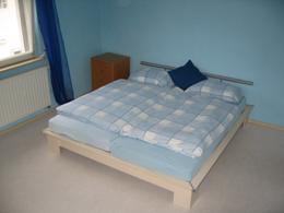 Ausschnitt des Zimmers 'Robbins' mit Doppelbett