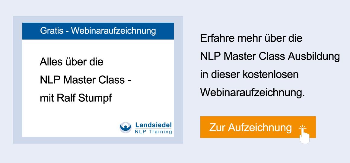 Online-Seminar NLP Master Class