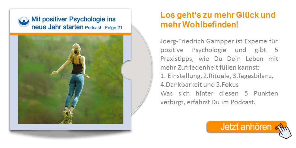 NLP Podcast 21: Mit Positiver Psychologie ins neue Jahr starten!