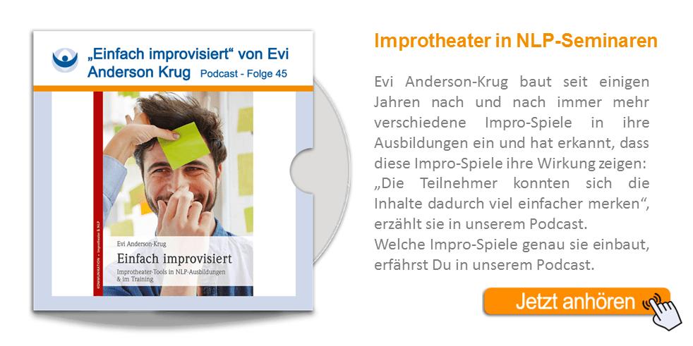 """NLP Podcast 45: """"Einfach improvisiert"""" – Buchvorstellung von Evi Anderson-Krug"""