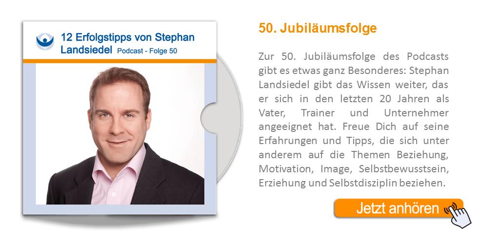 NLP Podcast 50: Jubiläumsfolge mit 12 Erfolgstipps von Stephan Landsiedel