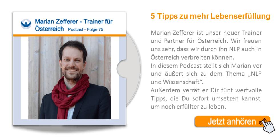 NLP Podcast 75: Marian Zefferer, neuer Landsiedel NLP Partner in Österreich
