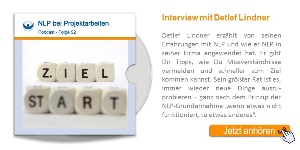 NLP Podcast 92: NLP bei Projektarbeiten – Interview mit Detlef Lindner