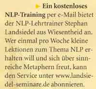 Bericht in Manager Seminare über das NLP-E-Mail-Training