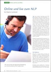 Artikel im März 2011 in der Zeitschrift 'Kommunikation & Seminar'