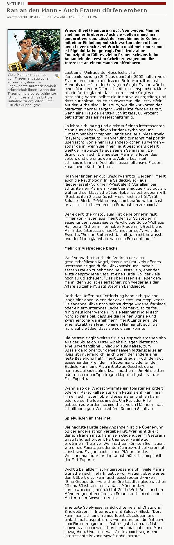 Rhein-Post: Ran an den Mann