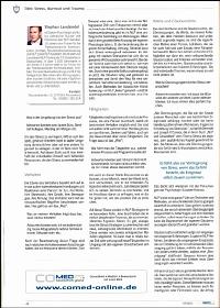 Artikel in der Zeitschrift 'Co-Med' Juli 2011