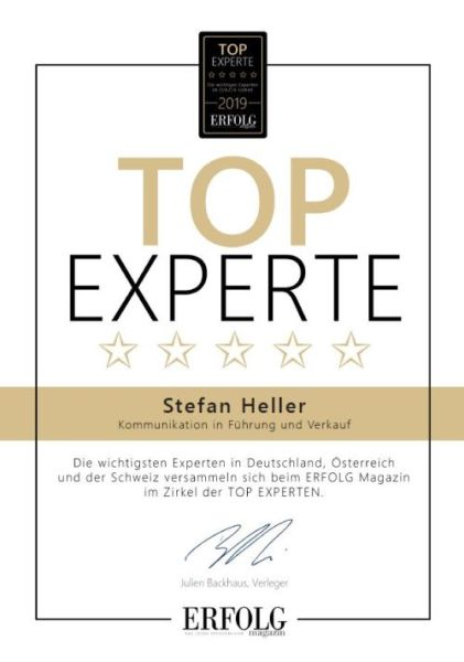 Top-Experte Führung und Verkauf