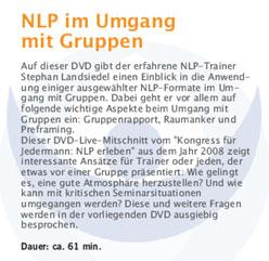 DVD-Beschreibung: NLP im Umgang mit Gruppen