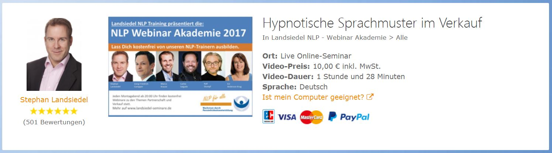 Hypnotische Sprachmuster im Verkauf