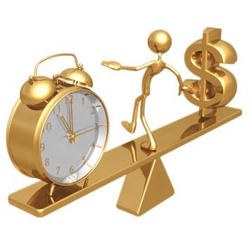 Zeit, Geld, Wippe