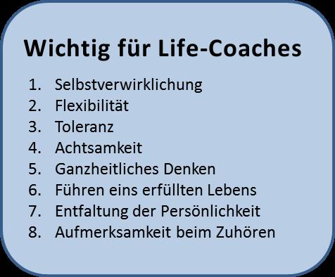 wichtig für Life-Coaching