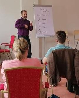 Stephan im Seminar
